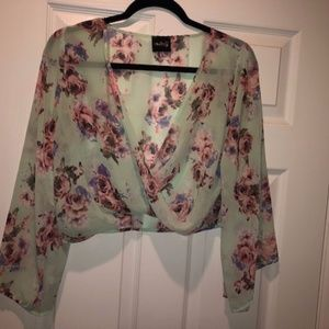 Cover up or cropped shirt